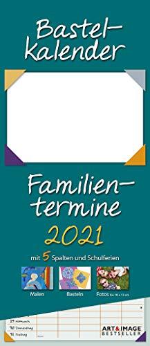 Bastelkalender 2021 A&I Familienplaner - Familienkalender - DIY-Kalender - kreativität - 19.5x45