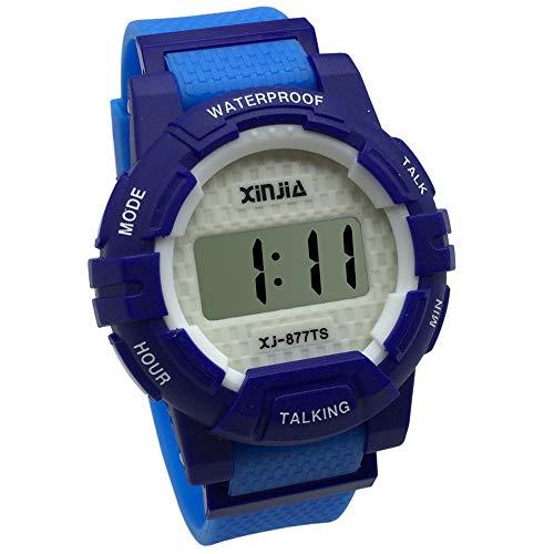 Orologio Parlante Digitale con Sonoro in Italiano con Sveglia e Relazione oraria Per bambini e non Vedenti 877TI-2