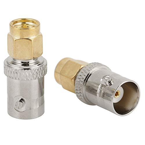 Dibiao 2Pcs Bnc Hembra a Sma Macho Tipo Rf Conector Adaptador Coaxial...