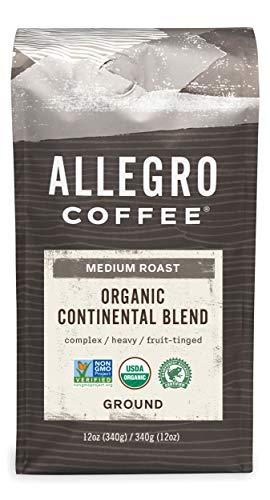 Allegro Coffee Organic Continental Blend Ground Coffee, 12 oz