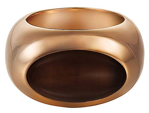 ESPRIT Damen-Ring Edelstahl rhodiniert Rauchquarz Pure Stone braun Gr.50 (15.9) ESRG11581A160