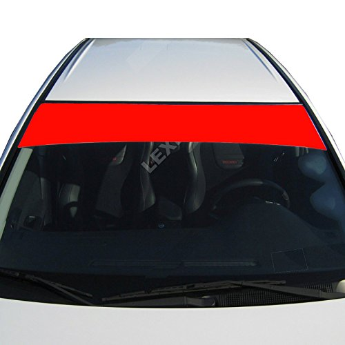 LEXEN Sun Strip Visor Premium Vinyl Decal Windshield Uncut 60