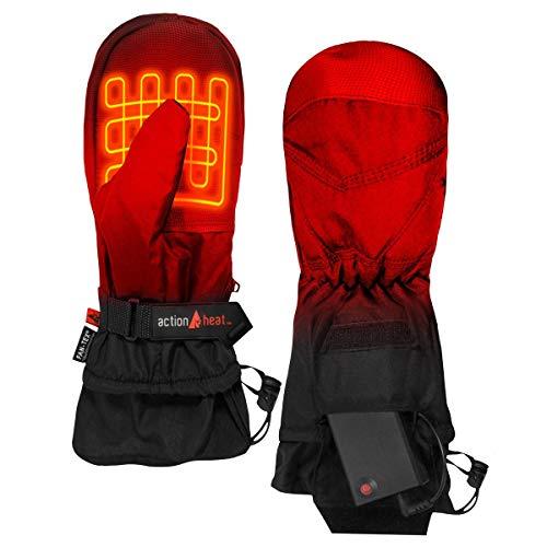 The Warming Store ActionHeat AA Battery Heated Mittens for Men, Women – Softshell Mittens w/Adjustable Gauntlet, Textured Grip