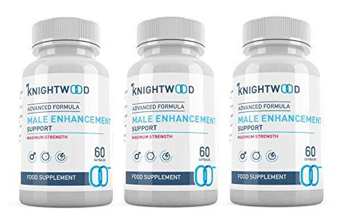 KnightWood Male Enhancement (180 Capsules) - Advanced Formula - Vitamin B6, Saw Palmetto, Ginseng Extract Korean, Fenugreek Powder, L-Arginine, Vegetarian Testosterone Booster - SUPPLEMENT PARADISE