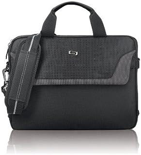 Solo Flatiron 14.1 Inch Laptop Slim Brief, Black/Grey