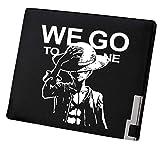 WANHONGYUE One Piece Anime Cartera Hombre Cuero Artificial Billetera Portatarjetas Slim Wallet Negro...
