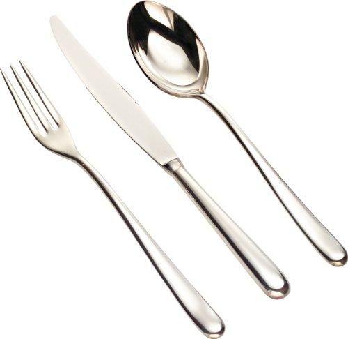 Alessi Caccia Besteckgarnitur 24tlg. Edelstahl glänzend poliert, Silber, 4.3 x 36 x 7.2 cm