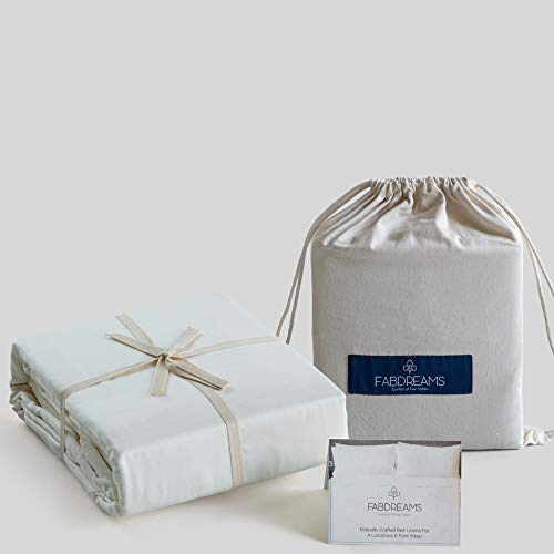 """100% Organic Cotton Full Ivory Sheet Set 