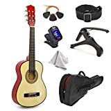 30' Wood Guitar with Case and Accessories for Kids/Girls/Boys/Beginners (Natural)