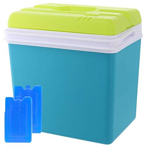Smartweb Kühlbox 24 Liter inklusive 2X Kühlakkus Kühltasche Isolierbox Warmhaltebox Thermobox Kühlschrank Cooler