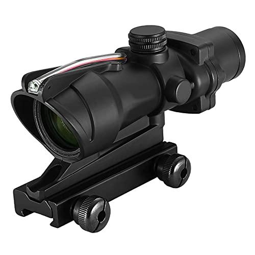 CTOPTIC 4x32 Scope Hunting Scopes Optical Sight Real Red Fiber Black
