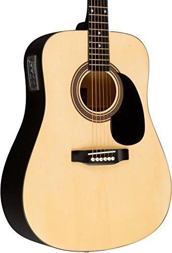 Rogue RA-090 Dreadnought Acoustic-Electric Guitar Natural