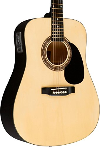 Rogue RA-090 Dreadnought Acoustic-Electric Guitar Natural