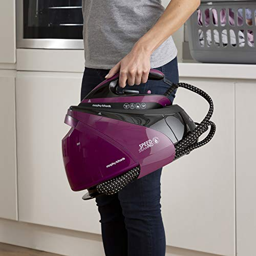 Morphy Richards 332102 Steam Generator Iron Easy Clean, Ceramic Soleplate, Mulberry