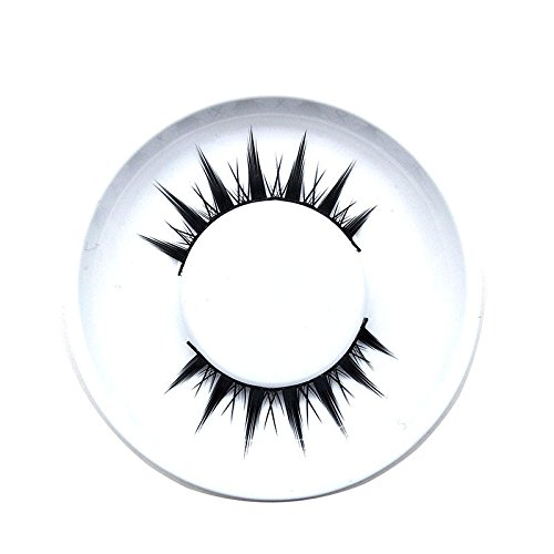 Delighted 1 pair 3D Cross Natural False Eyelashes Black Mink Hair Handmade Eye Lashes Extension Makeup - 01