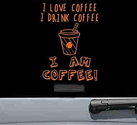 Amazon com: I love coffee Vinyl Decal Sticker cup mug beans