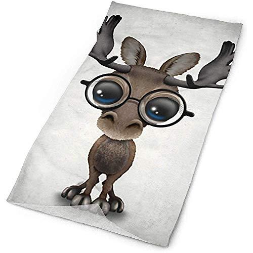 MJDIY 16-in-1 hoofdwear, leuke nieuwsgierige baby-eland-naad, de bril-sjaal-hoofdband draagt duurzame zweetband voor het paardrijden en wandelen