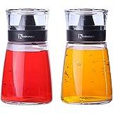 Juvale Vinagreras de Aceite y vinagre - Dispensadores de Vidrio para Aceite y vinagre con Tapas de Sellado - 163 ml, Juego de 2 Piezas