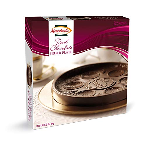 Dark Chocolate Seder Plate 16oz and Elegant gift latest Del Manischewitz By
