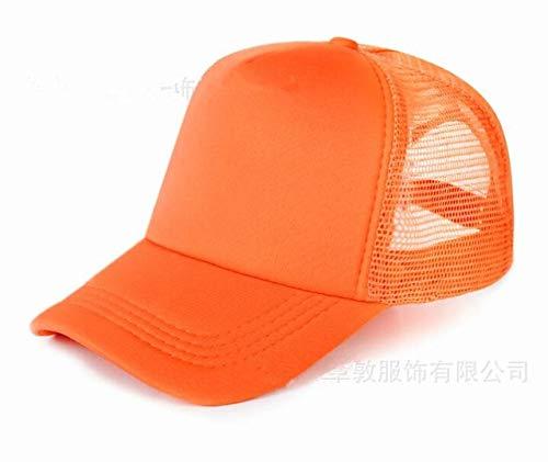 Hombres Mujeres Gorra de béisbol Gorra de Camionero con Logotipo con Estampado de Snapback de Malla-Full orange-1-48-52(Kids)