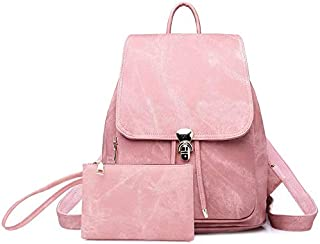 COOLBABY Casual Backpack Women Rucksacks Vintage Travel Anti-theft Youth Girl Backpack Trekking School Bags for Girls (Pin...