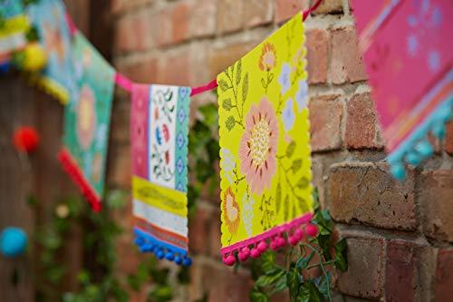 Talking Tables Boho, hangslinger (lama- en bloemenmotief), kleurrijk, 4 meter