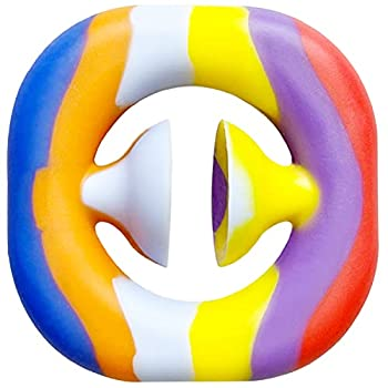 Taymey Snapper Fidget Toy Under 5 Dollars snap Fidget Toy Finger Sensory Fidget Toy Grab Snap Hand Fidget Toys Party Popper Noise Maker Stress Relief Squeeze for Kids and Adult  Colourful