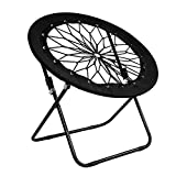 Silla de jardín plegable de Itoda, silla de jardín, silla de camping, silla redonda para balcón, plegable, silla de metal, silla de camping, muebles de jardín