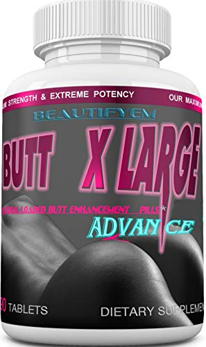 Butt X-Large Advance Butt Enlargement, Booty Enhancement. Butt Enhancer Pills. Fast Curved Bigger Glutes. 90 Tablets (Not a Butt Cream)