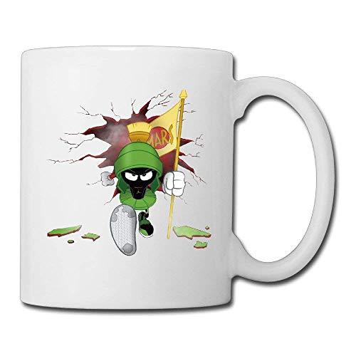 N\A Arvin The Martian Nope Crashes Over The Wall Taza de café/té Personalizada de cerámica Blanca para Regalos Divertidos