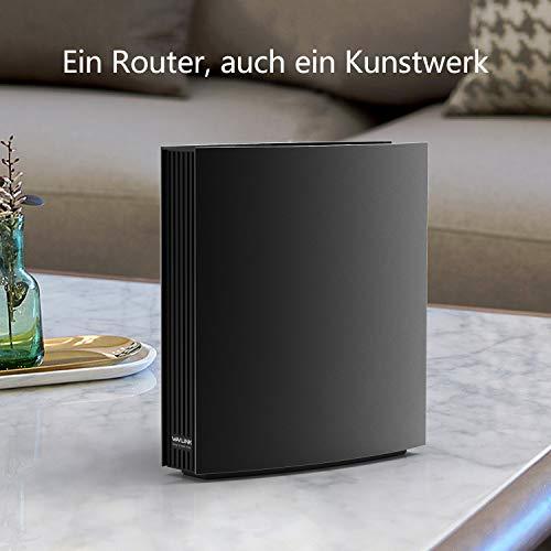 WAVLINK AC3200 Dual-WLAN-Router, Smart Gigabit-WiFi-Router mit Display, Support-Gastnetzwerk und Kindersicherung, iF Design Award 2017, 802.11ac Wave 2, 4x4 MU-MIMO, USB 3.0
