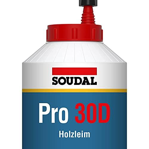 Soudal Pro 30D, cola para madera - 750g, Blanco