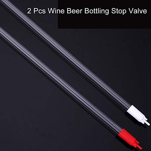 """LYY 2 Stück Bottling Wand für Bier und Wein, 3/8"""" Flaschenfüller mit Spring, Beer Counter Pressure Filler CO2 Bierbrauen Kit für Hobbybrauer und Weinherstellung"""