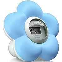Philips Avent SCH550/20 - Termómetro para habitación y baño, color azul