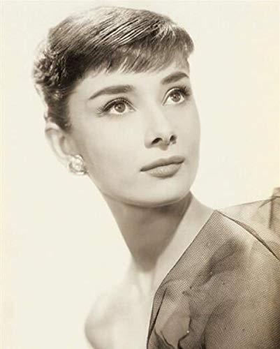 XuFan Carteles de Estrellas de Cine Cuadros Modernos de Audrey Hepburn Cuadro de Lienzo para decoración de Sala de estar-60cm x80cm Sin Marco