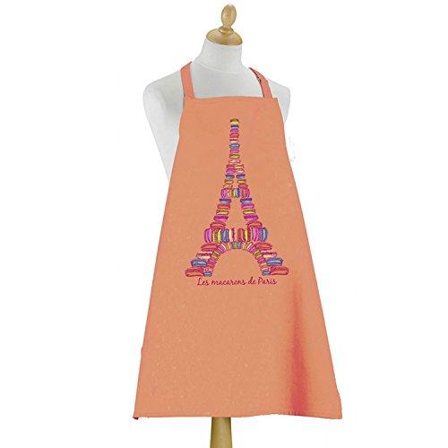 Tablier Macarons de Paris ORANGE 90 X 72 Torchons & Bouchons