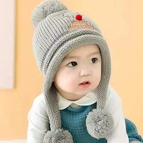 geiqianjiumai Plus fluweel jongens en meisjes baby muts 1-3 jaar oud baby eland oorbeschermers