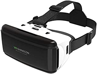 VR Shinecon G06 Helmet 3D Virtual Reality Glasses for The iPhone Android Smartphone Smartphone Glasses Android (Color : Bl...