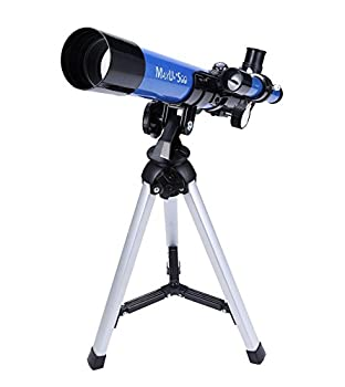 MaxUSee Kids Telescope 400x40mm with Tripod & Finder Scope Portable Telescope for Kids & Beginners Travel Telescope with 3 Magnification Eyepieces and Moon Mirror
