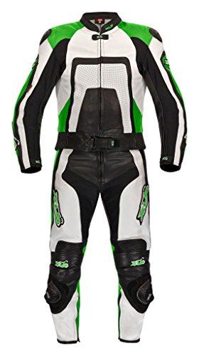 XLS Green Carbon Lederkombi in Kurzgröße 29 (58) schwarz grün
