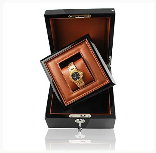 Watch-HLH Caja de Reloj de Madera de Regalo en Caja con Caja de Negocios de Cuero de Madera de la Llave de la Caja de la promoción Interior para Relojes de Marca Personalizados