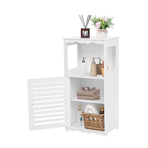 Mueble de baño, mueble de baño, repisa de baño, panel de madera y plástico, mueble de esquina Con 2 estantes y un espacio abierto para baño, dormitorio, sala de estar, cocina, pasillo 80 x 38 x 28 cm