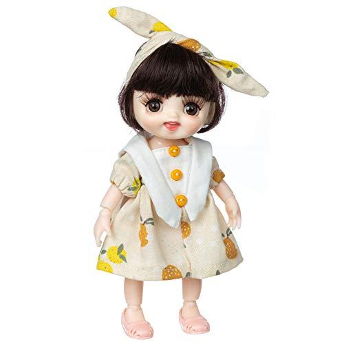 Transwen Modische Puppe | Beste Spielzeuge für Mädchen & Jungen | mit schönen Kleidern und b endbaren Händen und Füßen Fashionista Dolls mit Festival Vibe (A)