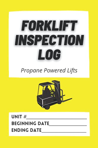 Forklift Inspection Log: Propane Powered Lifts - 365 pages