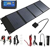Dioche Panel Solar de 120W - Cargador Solar - Bolsa Plegable...