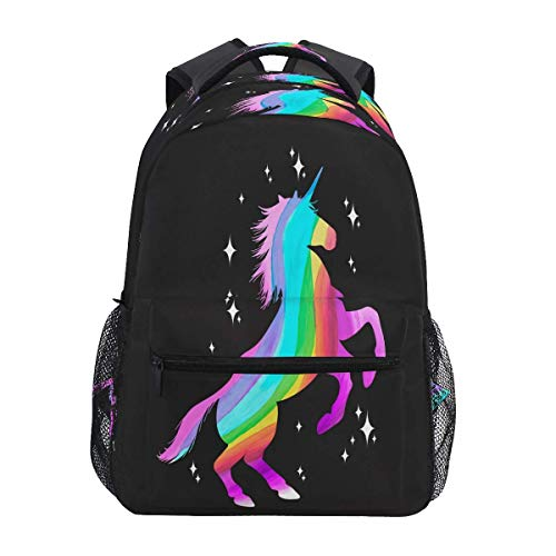 Borse A Tracolla Regolabili,Zaino Antifurto,Zaino Oxford Casual,Zaini Casual Animal Galaxy Unicorn Rainbow