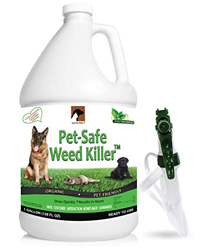Just For Pets Pet Friendly & Pet Safe Weed Killer Spray (128 oz / 1 Gallon)