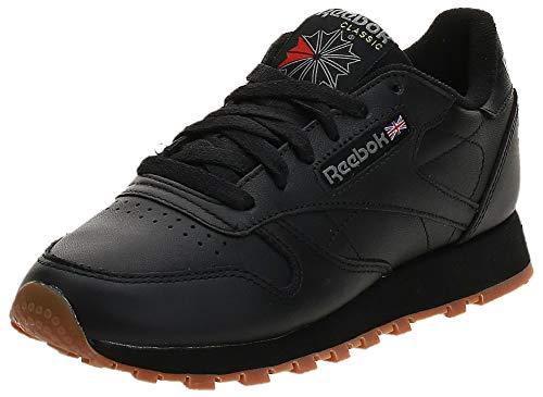 Reebok Damskie buty typu sneakers Classic Leather, czarny - Czarny Black Gum - 37.5 EU