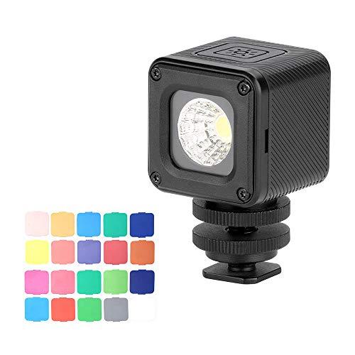 TOPTOO Ulanzi L1 Pro Vielseitiges wasserdichtes dimmbares Mini-LED-Videolicht 5500K mit Fülllicht CRI 95 und 20 Farbfiltern für die GoPro 7/6/5 für DJI Drones Osmo Pocket Support Tauchen