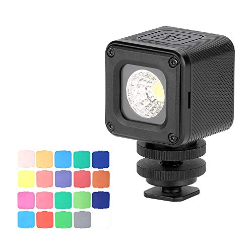 Ulanzi L1 Mini LED Light Professionale Impermeabile Avventura Illuminazione per Gopro Canon Nikon Fotocamera e Smartphone Subacquea, Bicicletta Camping Fotografia Video